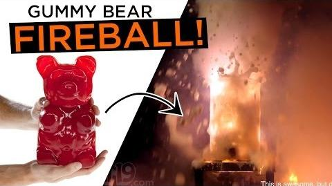 Giant Gummy Bear Fireball!