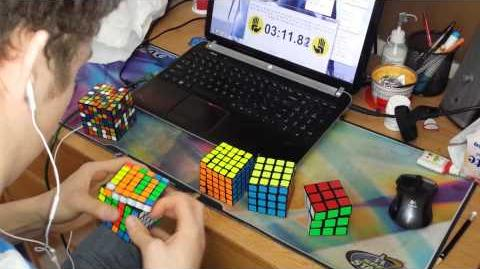 2x2 - 7x7 Rubik's Cube World Record 6 23