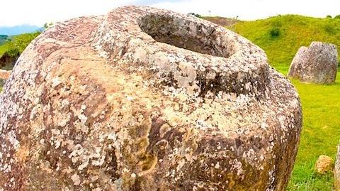 Mysterious Plain of Jars Site in Laos