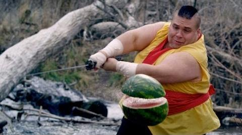 Fruit Ninja in Real Life to Dubstep!
