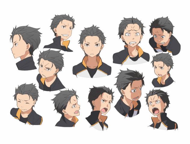 File:Natsuki Subaru Character Art Face Angles.png