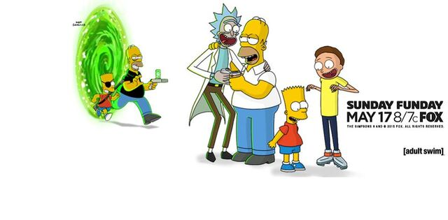 File:Rick and morty simpsons crossover.jpg