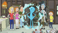 S1e5 meeseeks poof into existence