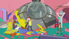 Rick and Morty and The Simpsons