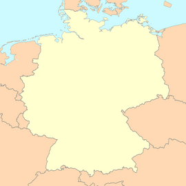 Germany map blank