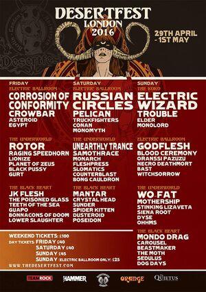 Desertfest London 2016 - Main Poster