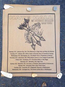 Nate Hall 2015 Tour