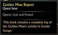 Golden Maw Report
