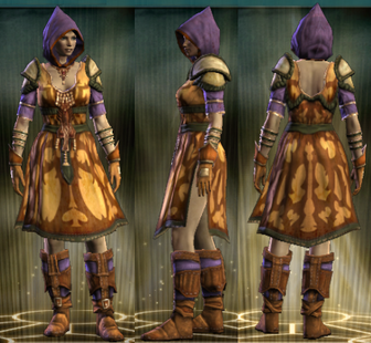 Yellow Robe Set Female