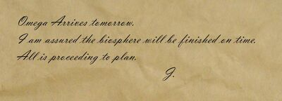 Note from 'J'