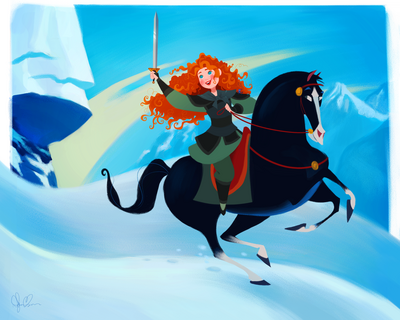 Merida in mulan s world by dylanbonner-d9paegi