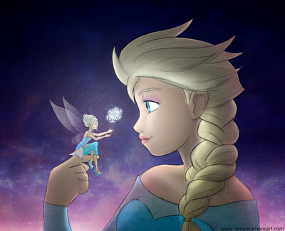 Elsa and periwinkle by mell0w m1nded-d7m4a1d