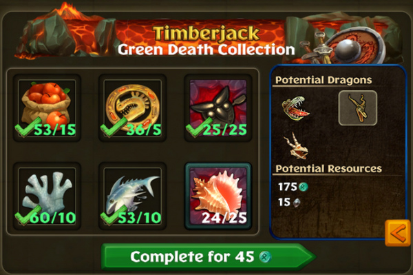 Green Death Potential Collections
