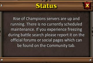 Status tab
