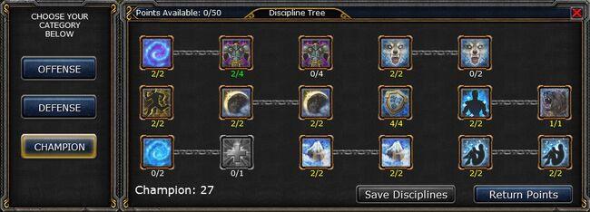Champion skill tree