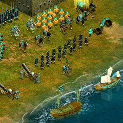 A Chinese army assembled by the shore (Chapter 1)