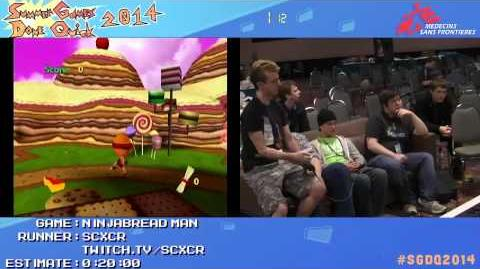 SGDQ 2014 Ninjabread Man Speed Run in 04 43 One Hand by SCXCR SGDQ2014