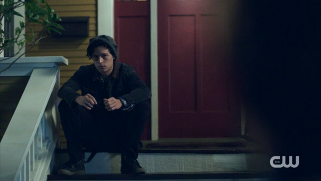 File:Season 1 Episode 2 A Touch of Evil Jughead waiting at Archie's house.png