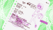 Hakamada Kagetsu's info sheet (Season 2)