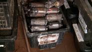 Bin of explosives