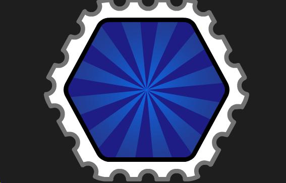 File:BlueHexagonStamp.png