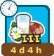 3.Newly drawn milk-Timed