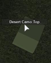 Desert camo top