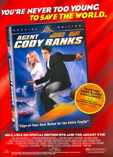 Agent Cody Banks print ad NickMag August 2003