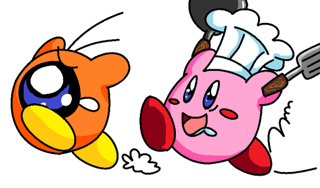 File:MS Paint Fun Cook Kirby by Cheese is tasty.png
