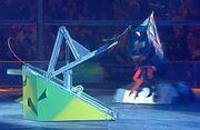 Ripper flips Aggrobot