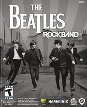The Beatles Rock Band box art
