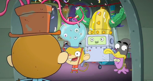 File:Rocket Monkeys - Gus, Wally, YAY-OK and Inky Party 1.png