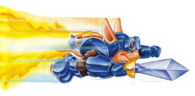 File:Sparkster (Rocket Knight Adventures Advert Artwork).png
