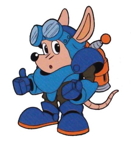 File:Sparkster (Rocket Knight Adventures Japan Manual Artwork 1).png
