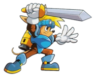 Sparkster (Sparkster- Rocket Knight Adventures 2 Official Artwork 4)