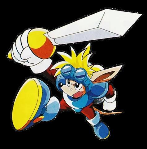 File:Sparkster (Sparkster- Rocket Knight Adventures 2 Official Artwork 2).png