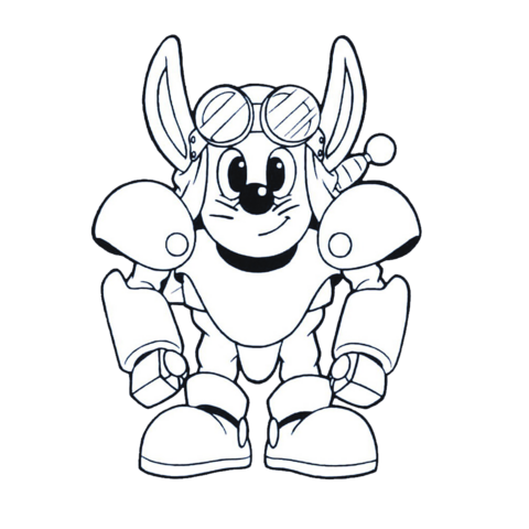 File:Sparkster (Rocket Knight Adventures Sparkster Front Europe Manual Line Artwork 3).png