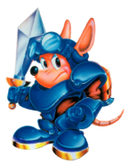 Sparkster (Rocket Knight Adventures U.S Artwork)