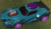 Unmasked decal sky blue rare