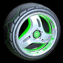 Triplex wheel icon forest green