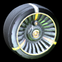 Turbine wheel icon orange