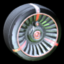Turbine wheel icon crimson