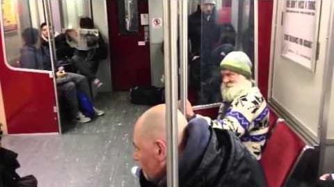 Drunk Santa on the TTC