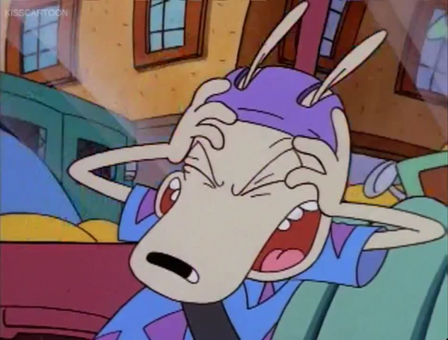 File:Rocko's reaction when Mrs. Wolfe pulls into traffic and before hitting hydrant.png