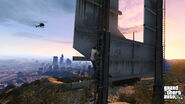 Trevor Climbing the D in Vinewood