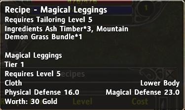 Recipe magical leggings d