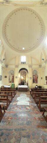 File:S. Andrea del Vignola - Panorama with ceiling-dome.jpg