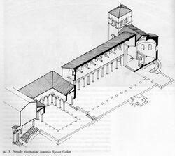 Santa Prassede axonometrical section