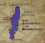 Aurefont map
