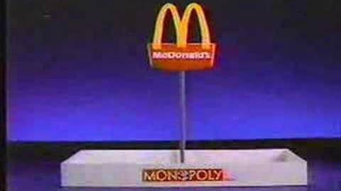 Vintage Commercial McDonalds Monopoly (1987)